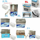 Digital Ultrasonic Cleaner Professional Heated Cleaning Tank Basket Stainless!