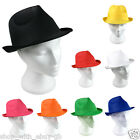 Fancy Dress FEDORA Gangster SUN HAT PANAMA TRILBY STRAW Style BEACH UNISEX Hats