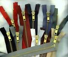 "36"" #5 Brass Jacket YKK Zippers   Beige Black Brown Md Grey Navy Olive Drab"