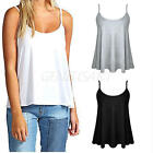 Sexy Women Summer Cotton Shoulder-straps Tank Top Swing Camisole Single Color