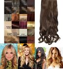 "CELEBRITY CLIP IN ONE PIECE G0003 16"" LONG CURLY HAIR EXTENSION WEFT HAIRPIECE"