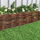 Rigid Willow Garden Edging 1M Panels Border Lawn Hurdle Pathway Drives