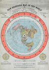 Alexander Gleason's New Standard Map of the World Flat Earth 11x15  16x23  22x31