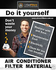 Air Conditioner / Heater Filter Material / Media G3 Certified -SELECT YOUR SIZE