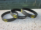 NEW BATMAN wristband,silicone bracelet,filled in colour,debossed