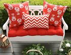 Red Cushion &  Lobster & Chevron Pillow Set for Bench ~ Swing, Select Size