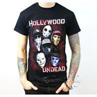 Hollywood Undead TShirt Mask Rock Band Men's Black Cotton Tee Size S - XL