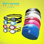 Barracuda Swimming Goggles #BOLT 90255 & 3D Silicone Cap (Standard) Package