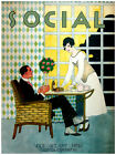 """11x14""""poster on CANVAS decor.Room art.Rich husband served by wife.6850"""