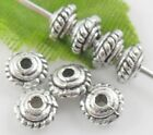 200/1500pcs Tibetan Silver Small Disc-shaped Spacer Beads 3x5mm  (Lead-free)