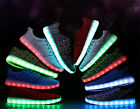 Hot Women Men's breathable Lace Up LED 7 Color Light shoes Luminous Sneakers