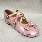 Sweet Lolita Tea Party Badydoll Princess Shoes Low Heel Custom Made 5176