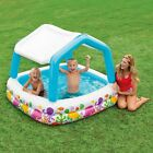 Small Inflatable Pool Sun Shade Outdoor Kids Toddlers Baby Water Swimming Center