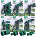 Hose Pipe Fittings Nozzle Connector Water Spray Gun Set Outdoor Garden Hosepipe