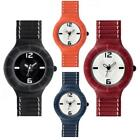 Unisex Watch HIP HOP LEATHER Small 32mm Leather Black White Red Orange
