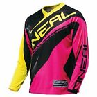 O'Neal Element 2016 Womens MX/Offroad Jersey Black/Pink/Yellow