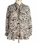 Vince Camuto Womens Plus Modern Edge Tie Neck Blouse shirt top 1x 2x 3x