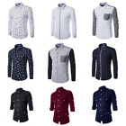 Fashion Mens Long Sleeves Luxury Casual Formal Slim Fit Stylish Dress Shirts hot