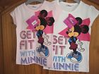 DISNEY MINNIE MOUSE T-SHIRT IN PINK OR WHITE AGE 3/4/5/6 YEARS BNWT