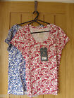 Jack Wills Witham Ladies T-Shirt Red Blue Size 6 8 10 NEW (tags) RRP £24.50