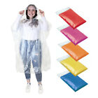 4 x Disposable Raincoat Waterproof Emergency Poncho Cape Adult Camping Festival