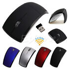 Optical Foldable Folding Arc Wireless Mouse Mice+USB 2.4G Snap-in Receiver New