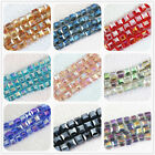 HOT!fashion 6mm 100pcs crystal glass tube square faceted  beads pop jewelry B986