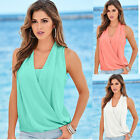 Women Sexy Summer V Neck Chiffon Casual Party Club Blouse T-Shirt Tee Shirt Tops