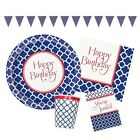 HAMPTONS QUATREFOIL Birthday Party Tableware & Decorations (Napkins/Plates)