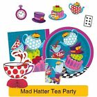 MAD HATTER TEA PARTY Tableware & Decorations (Birthday/Alice In Wonderland)