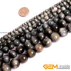 """Natural Stone Gray Eagle's Eye Round Beads For Jewelry Making 15"""" 4mm 6mm 8mm"""