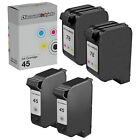 4pk for HP 45/78 BLK COLOR Ink Cartridge HP 51645A HP C6578DN