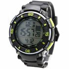DW445E Black Band Black Watchcase Chronograph Alarm BackLight Neon Digital Watch