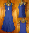 NEW LADIES M&S PER UNA FLORAL BRODERIE ANGLAIS BLUE COTTON STRAPPY SUN DRESS