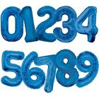"Large Numeral Foil Balloons (34"") Blue Glitz (All Ages) Helium Quality {Unique}"