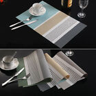 PVC Solid Insulation Bowl Placemats Dining Pad Western Table Mats