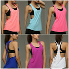 Womens Sexy Open Side Sleeveless Loose Sport Tank Top