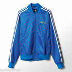 ADIDAS Originals Mens Pharrell Williams Blue Polka Dot Track Top Jacket S Z97398