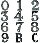 Countersink Hole Black Acrylic Number Numbers Plate Character Letters Door Signs