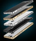 LUPHIE Tempered Glass Aluminum Bumper Cover Case For Huawei P9