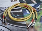 1Pair HIFI RCA Audio Cable copper silver plated 4n copper