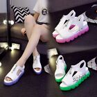 2016 Hot Sale Womens Summer Sandals Cool Jelly Shoes Wedge Zip Open Toe Sandals