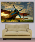 """old airplane canvas print,cockpit,giclee  modern wall decoration huge 30""""x40"""""""