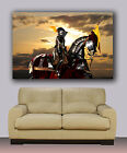 """Abstract Canvas print. Huge knight on horse before battle 30""""x40"""""""