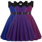 Women Vintage Style 50s 60s Swing Evening Party Cocktail Prom Housewife Dress