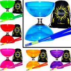 QUARTZ 2 Triple Bearing Diabolo Set, Fibre Sticks, String, Bag - Pro Diabolos