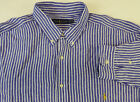 Polo Ralph Lauren Long Sleeve Striped 100% Linen Sport Shirt $145 w/ Pony NWT