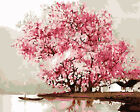 Spring Full Blooming Cherry Blossom River Back Needlepoint Canvas