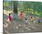 'Tree Swing, Elephant Island, Bombay' by Andrew Macara Painting Print on Canvas