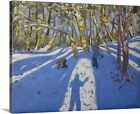 'Winter Elvaston Castle' by Andrew Macara Painting Print on Canvas